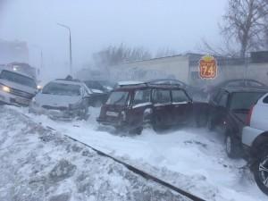 Массовое ДТП в Озерске: на дороге столкнулись 15 машин