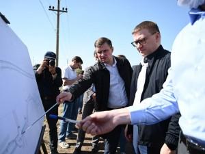 Губернатор Текслер проверил проблемные участки дорог, на которые жаловались жители Челябинска
