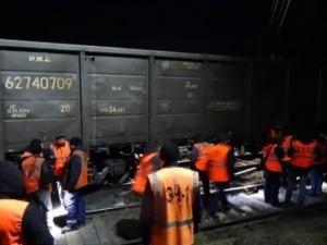 Локомотив сошел с рельсов в полночь
